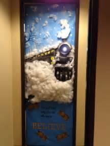 office door polar express boards  doors