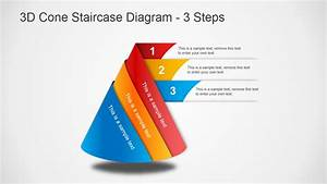 3d Cone Staircase Diagram For Powerpoint