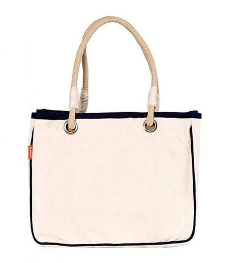 natural canvas rope handle purse totes nautical luxuries