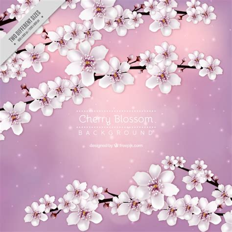 foto de Fundo da flor de cerejeira rosa Baixar vetores grátis