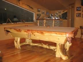 custom juniper wood pool tables by toby j 39 s llc custommade com