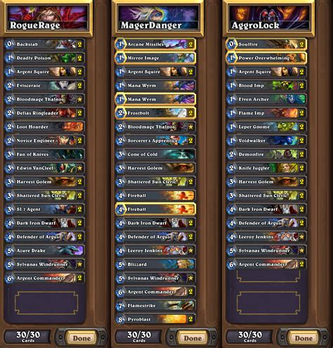 hearthstone rogue deck september 2017 hearthstone rogue decks 2017