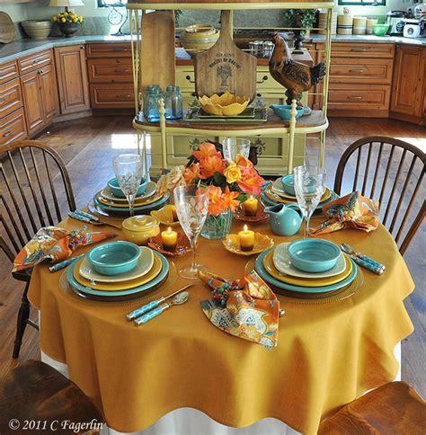 tablecloth  set  table   sunflower