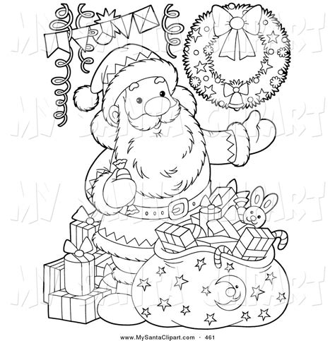 christmas picture outline royalty free sack stock santa designs
