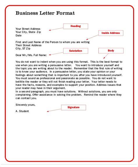 official letter format 8 formal letter formats sample templates 23834 | Formal Business Letter Format