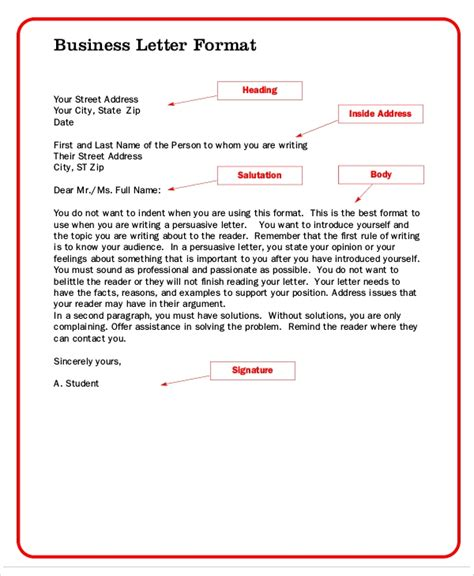formal letter format  samples examples  word