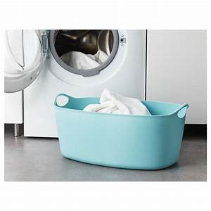 TORKIS Flexi laundry basket, in-/outdoor Blue 35 l - IKEA