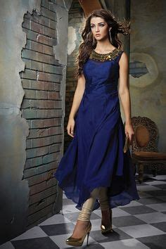 Boat Neck Gown Cutting by Umbrella Cut Georgette Kurti With Boat Neck