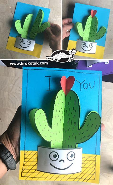 krokotak flowering hearts cactus craft