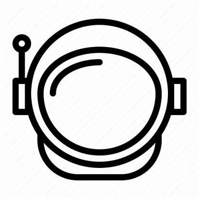 Astronaut Helmet Space Outline Transparent Spaceman Cosmonaut