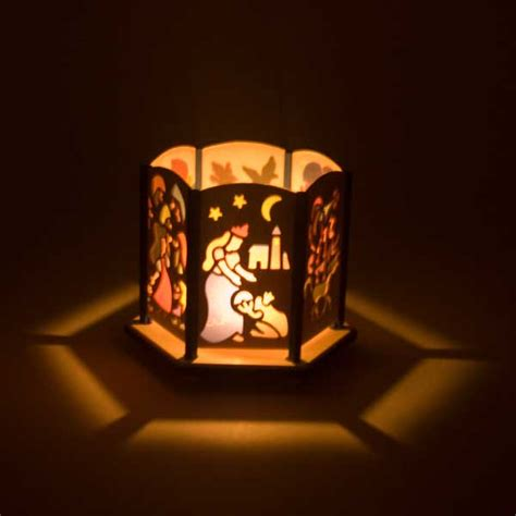 fairy tale tealight candle lantern   erzgebirge germany