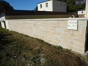 Veranda avec muret en pierre xw31 jornalagora for Exceptional maison bois et pierre 15 cloture en parpaing