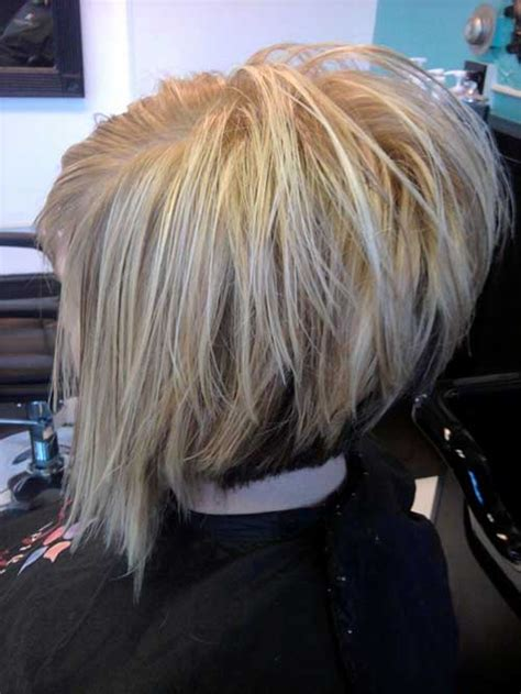 stacked layered bob bob hairstyles  short