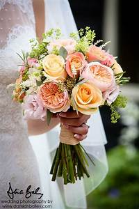 Bridal Bouquet Of Miss Piggy Roses Peach Avalanche Roses