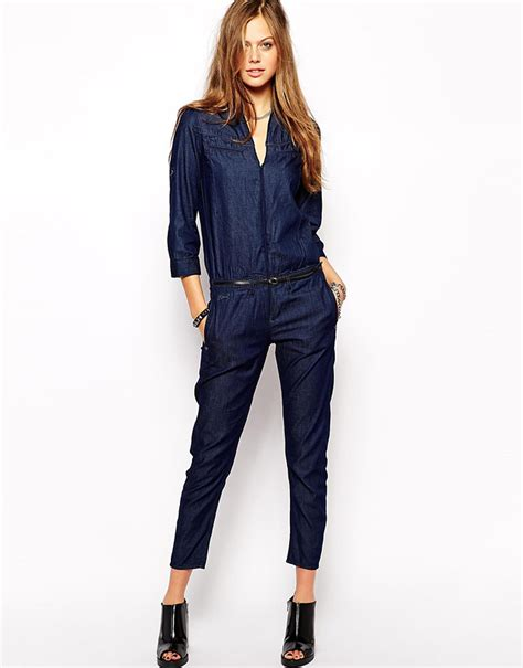 beyonce wears custom diesel denim jumpsuit