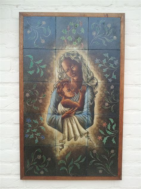 tile tableau with depiction of with child around