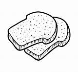 Toast Coloring Breads Dreamstime Children Illustrations Vectors Cartoon sketch template