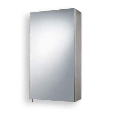 Stainless Steel Mirrored Bathroom Cabinet by Stainless Steel Mirrored Single Door Cabinet 550 H 300 W