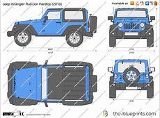 Jeep Wrangler Rubicon Hardtop vector drawing