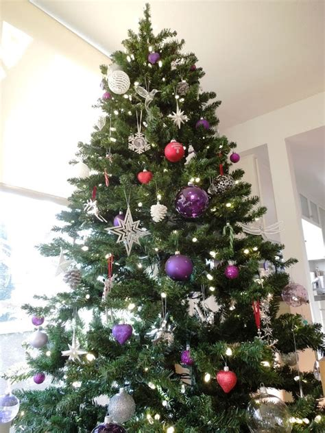 purple decorated christmas trees purple decorated christmas tree 5322