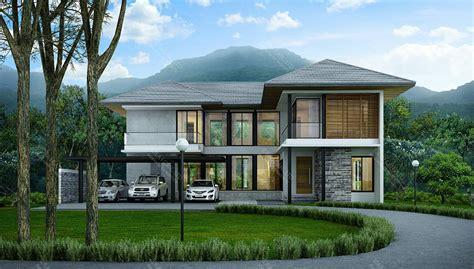 RE-H2-505.330 แบบบ้านสองชั้น 4 ห้องนอน 5 ห้องน้ำ พื้นที่ใช้สอย 330 ตร.ม. resort style ...