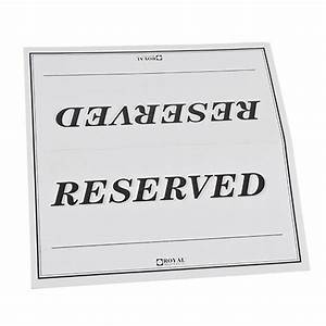 Table Tent Sign  U0026quot Reserved U0026quot  - Double-sided   Pack