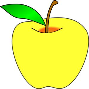 apple clipart png yellow apple clip at clker vector clip