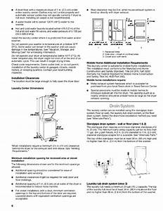 Page 6 Of Kenmore Washer  Dryer Washer  Dryer User Guide