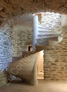 Escalier Colimaçon Beton : escalier h lico dal double palier en pierre naturelle de bourgogne escaliers pinterest ~ Melissatoandfro.com Idées de Décoration