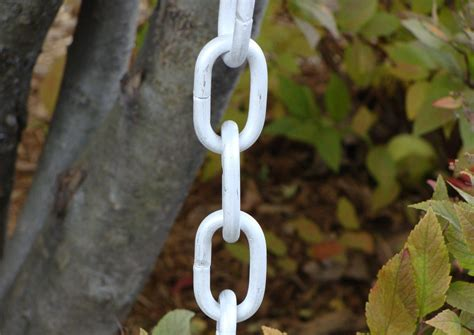 click   larger view  aluminum link rain chain