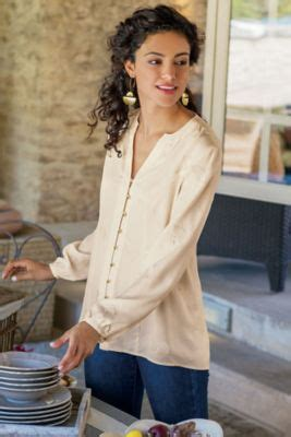 sonja embroidered tencel top embroidered tencel top