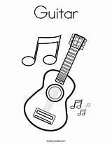 Guitar Coloring Built California Usa sketch template