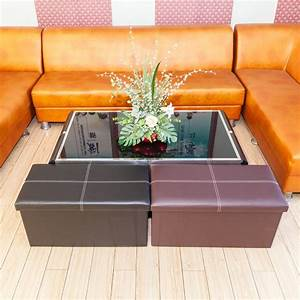 30, U0026quot, Rectangle, Shape, Storage, Ottoman, Faux, Leather, Footrest, With, Foam, Padded, Seat
