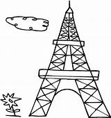 Eiffel Tower Coloring Drawing French Outline Cartoon Easy Paris Pages Printable Clipartmag Getdrawings Template Colouring Sheets Sky sketch template