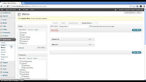 How To Add Custom Menu To Wordpress Themes Youtube