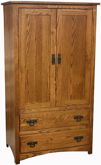 Shaker Wood Armoire Hickory Door Amish Oak
