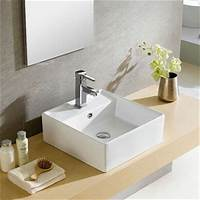 great contemporary bathroom fixtures Fine Fixtures Modern White Vitreous China Square Vessel ...