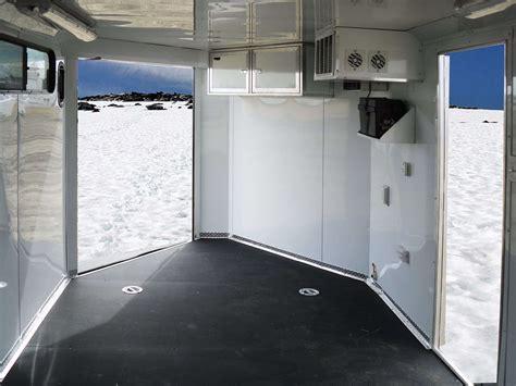 Snowmobile trailer rubber flooring : Enclosed Snowmobile Trailer Heated