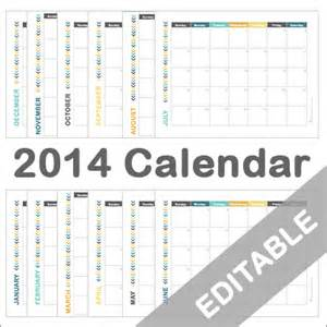 2014 Editable Monthly Calendar Printable Free