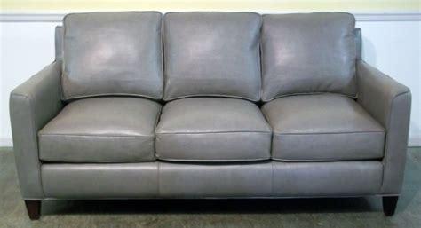 grey leather settee gray leather sofa blaine s sofa