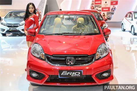 honda brio facelift unveiled at 2016 indonesia