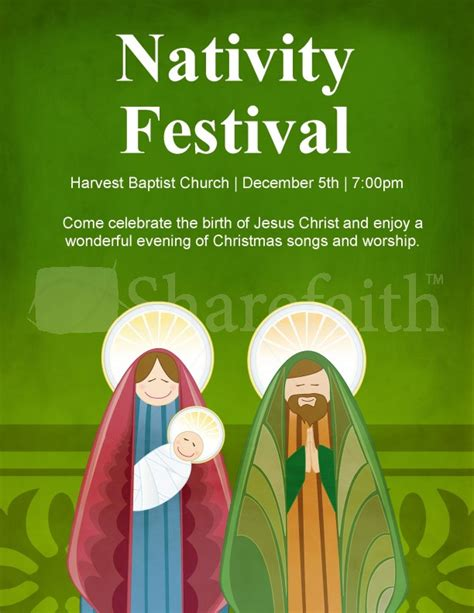nativity christmas flyer template template flyer templates