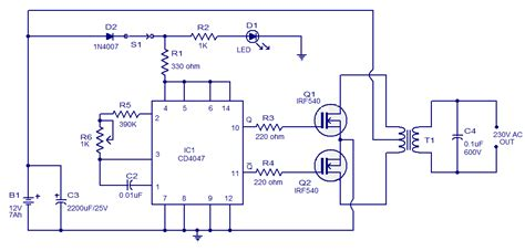 simple 100w inverter circuit working and circuit diagram updated