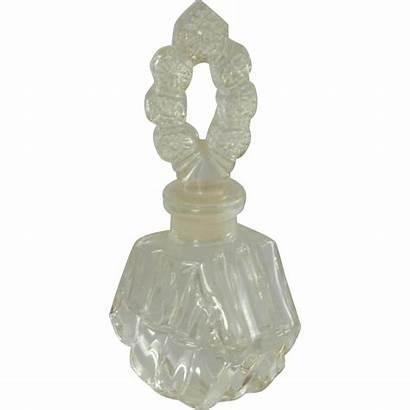 Glass Perfume Bottle Stopper Clear Interesting Jeannette