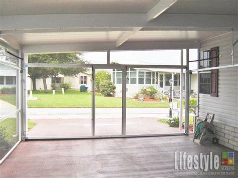 Patio Center Retractable Garage Screen Doors