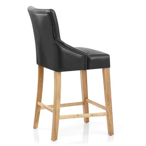chaise de bar cuir chaise de bar faux cuir bois magna monde du tabouret