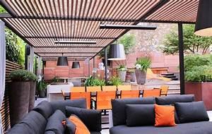 Toit Pergola Bois : fixation horizontal sous une pergola d une terrasse d un toit parisien lustra ambiance et ~ Dode.kayakingforconservation.com Idées de Décoration