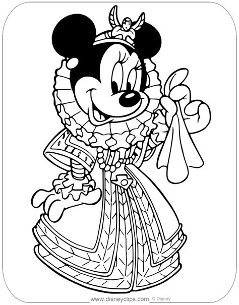 minnie mouse  costume coloring pages disneyclipscom