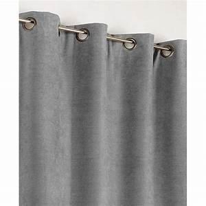 Rideau Gris Clair : rideau occultant thermique alaska gris clair x cm leroy merlin ~ Teatrodelosmanantiales.com Idées de Décoration