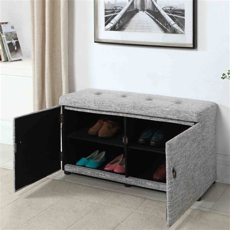 Upholstered Shoe Storage Bench by Gabriela Upholstered Shoe Storage Bench In 2019 Woodland